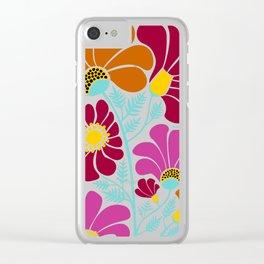 Autumn Floral Clear iPhone Case