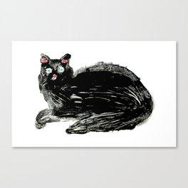 Black Cat. Canvas Print