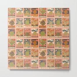 Cactus Tarot Card Print Metal Print
