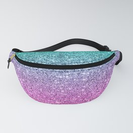 Pink and turquoise glitter ombre Fanny Pack