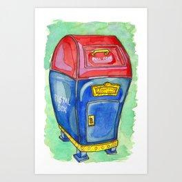 Toontown Post Art Print