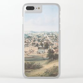 Vintage Pictorial Map of Staunton VA (1857) Clear iPhone Case