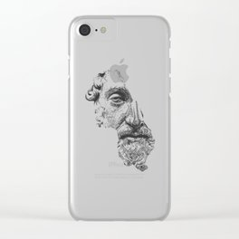 MARCUS AURELIUS ANTONINUS AUGUSTUS / black / white Clear iPhone Case