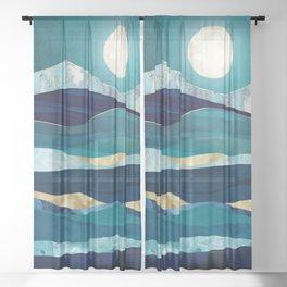 Winter Sea Sheer Curtain