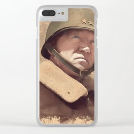 General George S. Patton Clear iPhone Case