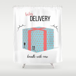 Baby delivery Shower Curtain