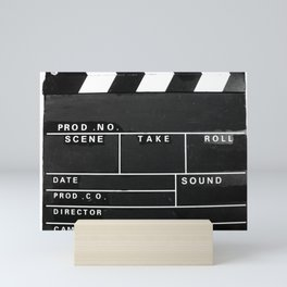 Film Movie Video production Clapper board Mini Art Print