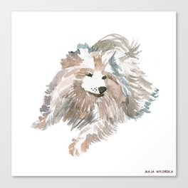 watercolor dog vol 14 samoyed Canvas Print