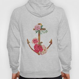 floral rusted anchor Hoody