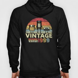 1999 Design. Vintage 21st Birthday Gift, Funny Music Tech Product Hoody