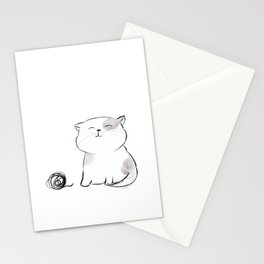 Play with me, Human. Stationery Cards