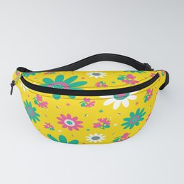 Retro Fall 60's Sunflower Floral in Yellow Fanny Pack