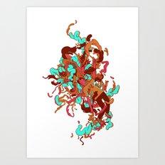 Headspace 03 - blue Art Print