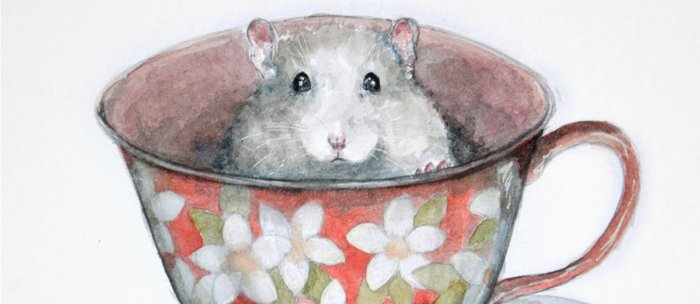 Rat in a cup Coffee Mug
