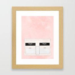 pink marfa watercolor illustration Framed Art Print