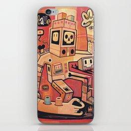 Esclaves des robots... nous serons   iPhone Skin