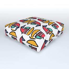 Little Tiny Sailboats Outdoor Floor Cushion