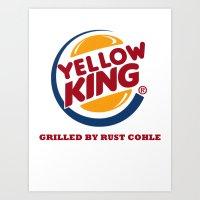 True Detective Yellow King Logo Rust Art Print