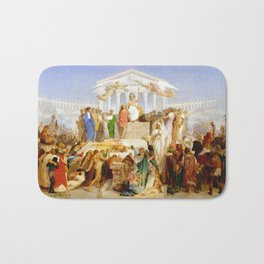 Jean-Léon Gérôme The Age of Augustus, the Birth of Christ Bath Mat