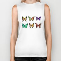 butterflies Biker Tanks featuring Butterflies by ShaMiLa