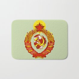 STATE OF THE EMBLEM OF THE  SOVIET UNION  Bath Mat