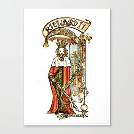 Richard II - Shakespeare Tudor History Illustration Canvas Print