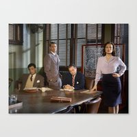 agent carter Canvas Prints featuring Agent Carter. by agentcarter23