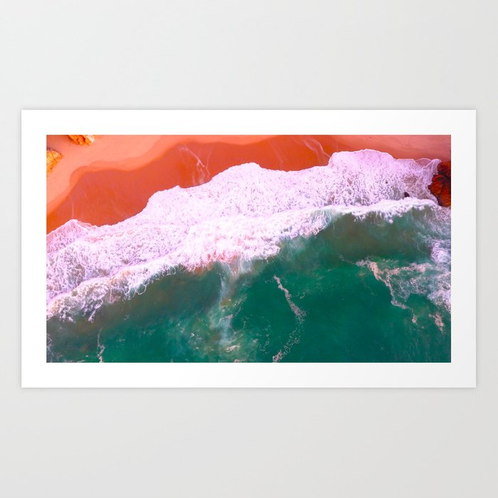 Water Print, Ocean Art Print, Sea, Wave, Wall Art Decor, Bathroom Print, Blue Water Poster, Bathroom Art Print