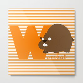 w for wombat Metal Print