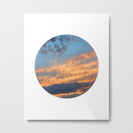 Berkshire Sunset III circle Metal Print