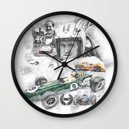 Denis Hulme Wall Clock