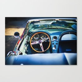 Sophisticated American Classic Car Interior Canvas Print