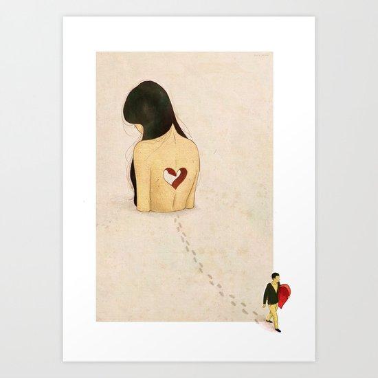 """you stole my heart away"" Art Print"