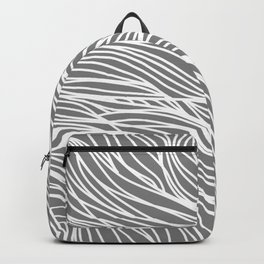 Gray Wave Lines Backpack