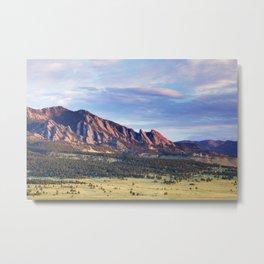 Boulder Colorado Flatirons Metal Print