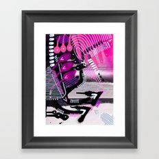 Wave black Framed Art Print