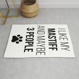 Mastiff Owner Funny Rug