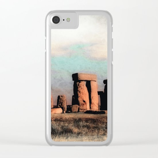 Mysterious Stonehenge Clear iPhone Case
