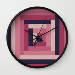 Pinkish Rectangular Squares Wall Clock