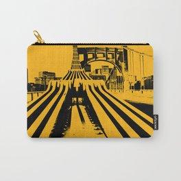 Pittsburgh City Skyline Bridge Pop Art Black Gold Print Carry-All Pouch