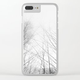 WINTER SKY Clear iPhone Case