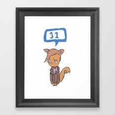 Doctor Meow (11th Doctor) Framed Art Print