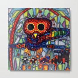 Owls Over The Stock Exchange Metal Print