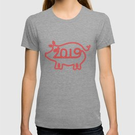 Year of the Pig Chinese New Year 2019 Zodiac Shirt Light T-shirt