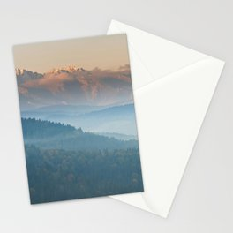 The mountains are calling #sunset Stationery Cards