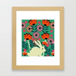 Little bunny in spring Framed Art Print