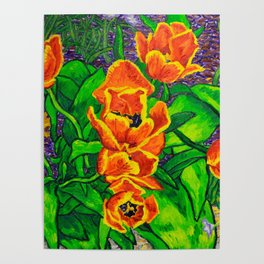 View of Tulips Poster