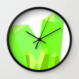 Gorgeous Green Gems Wall Clock