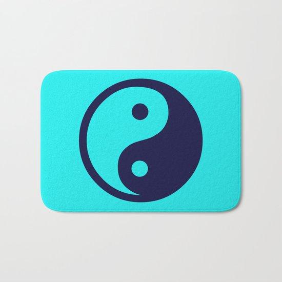 Harmony Yin Yang Navy Turquoise Bath Mat