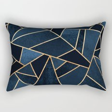 Navy Stone Rectangular Pillow
